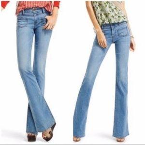 Cabi Malibu Flare High Rise Jeans Light Wash